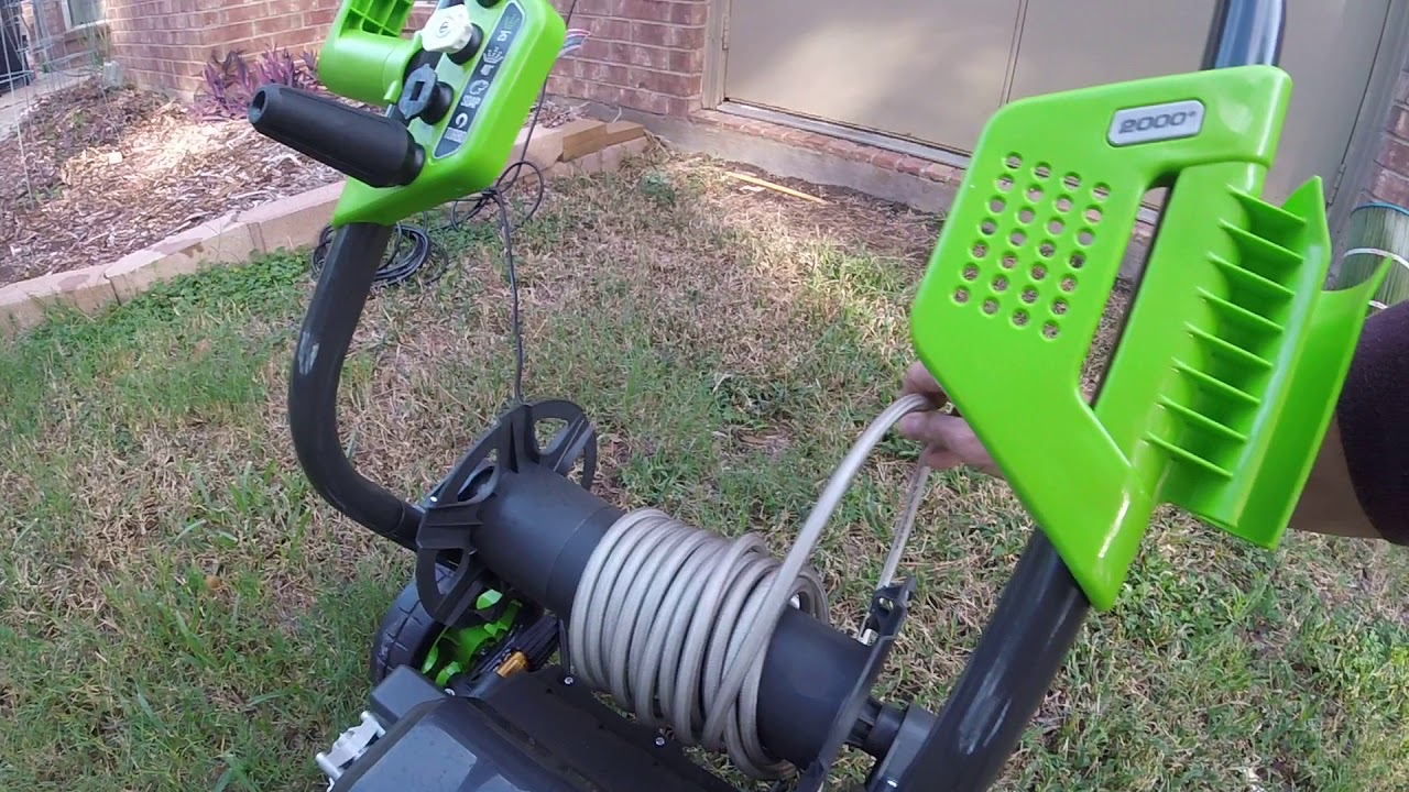 Greenworks 2000-PSI 1 2-GPM Cold Water Electric Pressure Washer - Video  Review