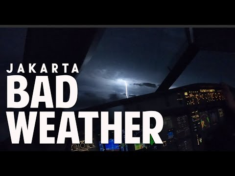 RARE!!! JAKARTA BAD WEATHER - by Vincent Raditya ( BATIK AIR