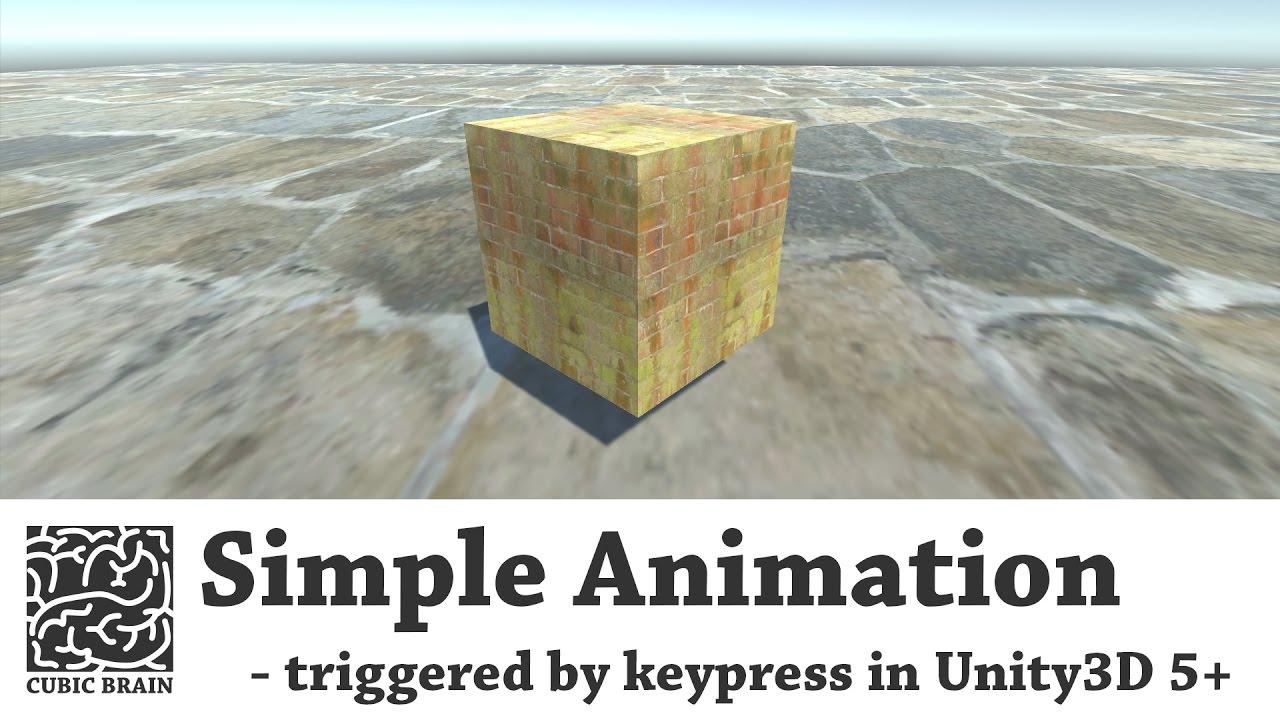 Unity3D - Trigger animations (keypress trigger)