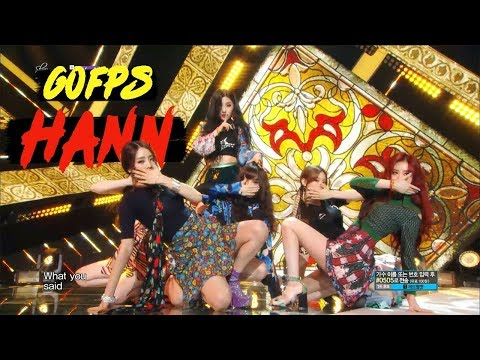 60FPS 1080P | (G)I-DLE - HANN, (여자)아이들 - 한(一) Show Music Core 20180818