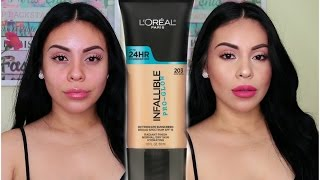 NEW L'OREAL Pro Glo Foundation FIRST IMPRESSION + DEMO | juicyyyyjas | JuicyJas