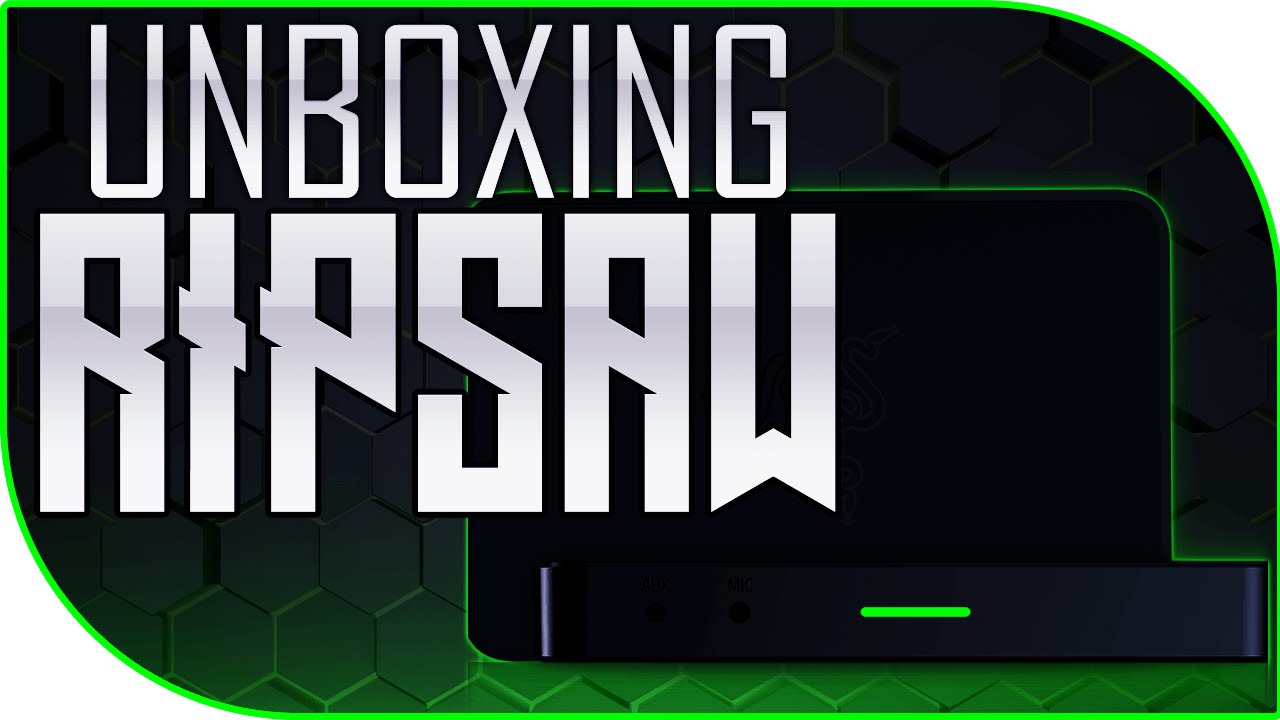 RAZER RIPSAW UNBOXING Game Capture Card (1080p 60fps USB 3 0) by LaserBolt
