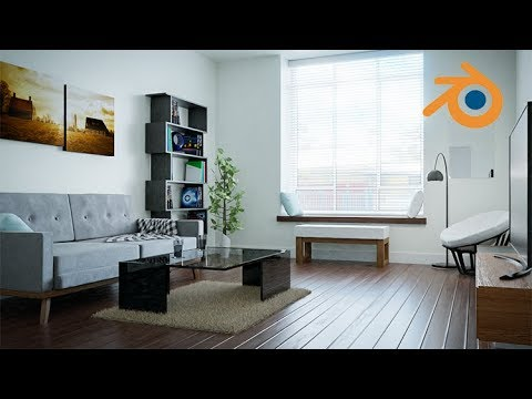 Create Design A Modern Interior In Blender Course Youtube