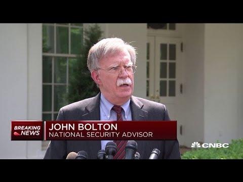 National Security Advisor John Bolton on Venezuela protests