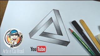 Como desenhar Triângulo 3D - Ilusão de Ótica