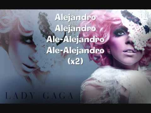 Lady Gaga Alejandro ( Official Instrumental Version) Karaoke with Lyrics