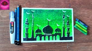 milad un nabi  special greenlight scenery drawing with oil pastel