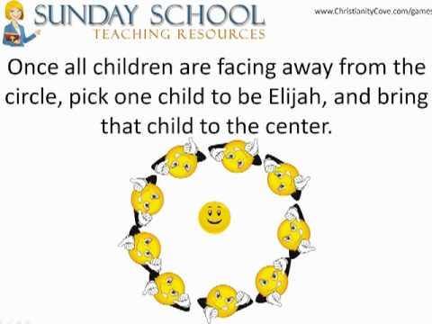"""Sunday School Activities - Elijah and the """"Break Through"""" Game"""