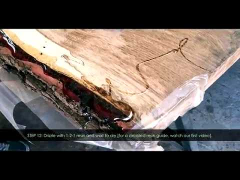Wood DIY | How to: Epoxy Resin Bark Preservation