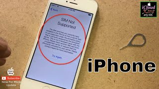 how to unlock sim not supported✔️ iPhone for any carrier with icloud Unlock any iOS 2019