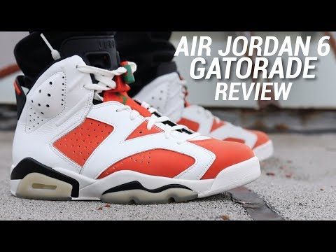 the best attitude 915ae fa3d3 AIR JORDAN 6 GATORADE REVIEW - YouTube