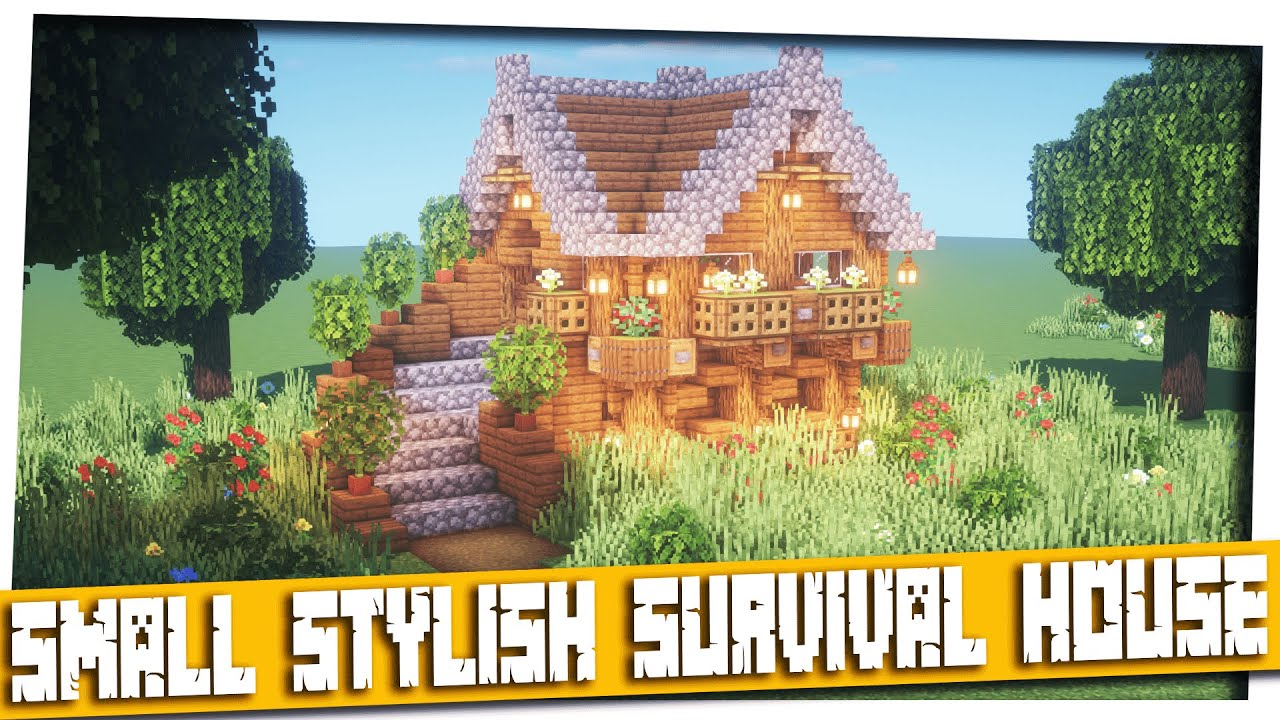 Minecraft Small Stylish Survival House Minecraft How To