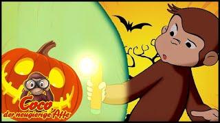 Coco der Neugierige Affe Deutsch🐵👻Die Monster-Höhle 🎃das Halloween 🐵Cartoons für Kinder