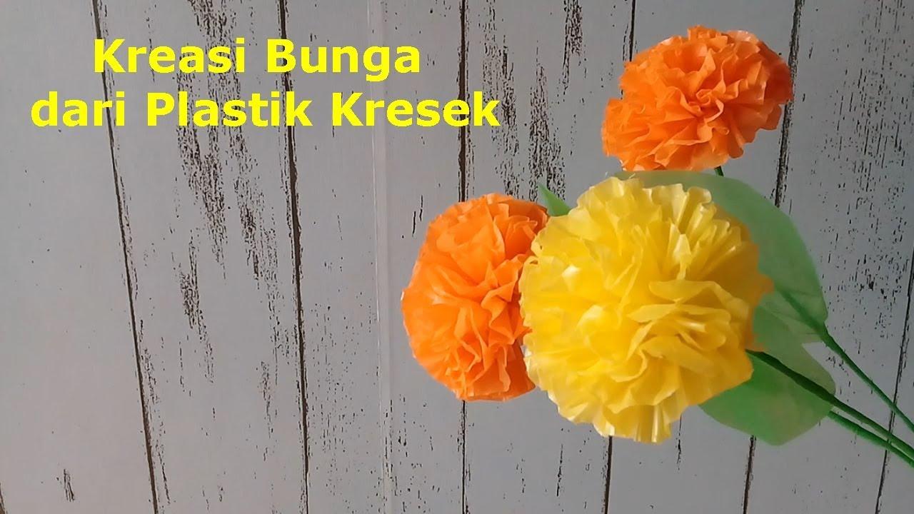 Cara Paling Mudah Membuat Bunga Dari Plastik Kresek Prakarya Sd Youtube