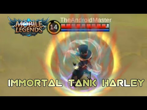 IMMORTAL TANK HARLEY | MOBILE LEGENDS WTF BUILDS | MOBILE LEGENDS