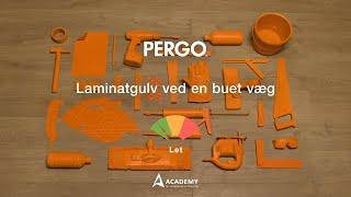 Lægge laminatgulv: et gulv i et rum med en buet væg