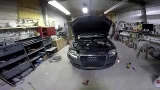 Как снять бампер на AUDI A4