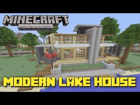 Minecraft xbox 360 ultra modern house house tours of for Minecraft big modern house tour
