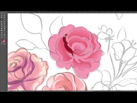 Simple flower coloring photoshop for beginner