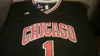 Баскетбольная форма NBA Chicago Bulls Derrick Rose черная магазин BASKET FAMILY