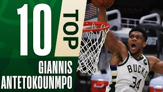 Giannis Top 10 Caŗeer Transition Dunks in 3 Dribbles or Less! 💥