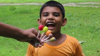 Funny Toddler Learn Colors With Lollipop