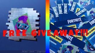 Wallmart exclusive fortnite spray giveaway!