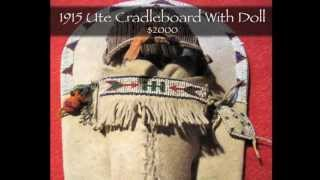 Frontier Plunder Indian Trading Post - Ute Cradleboard With Doll
