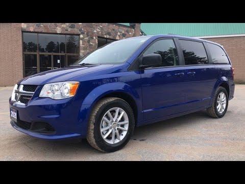 2020 Indigo Blue Dodge Grand Caravan Sxt Plus Youtube