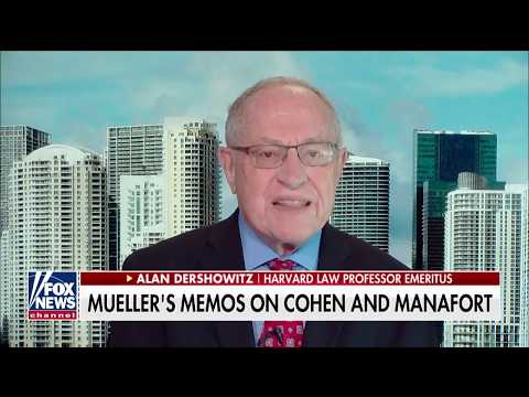 Dershowitz: Mueller Has Come Up With Far Less Than He Hoped For