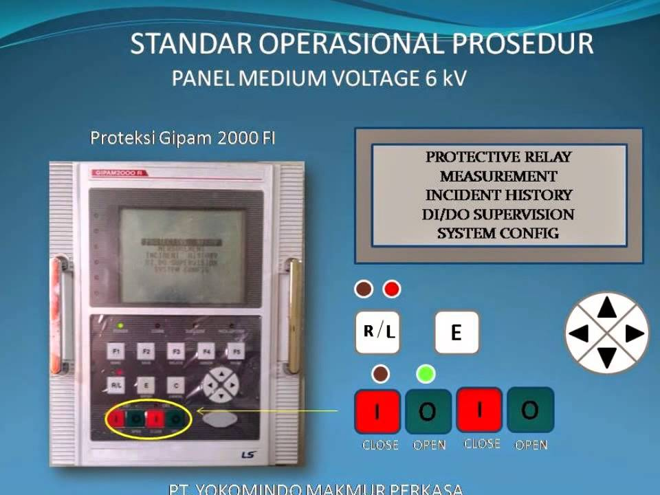 INTRODUCTION PROTECTION RELAY GIPAM 2000F FOR SWITCHGEAR 6 kV 30