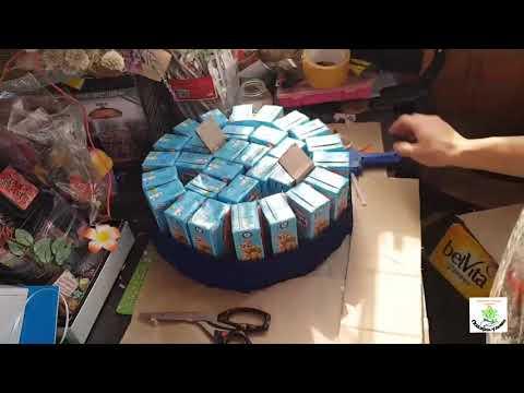 Как сделать торт из соков и конфет в детский сад