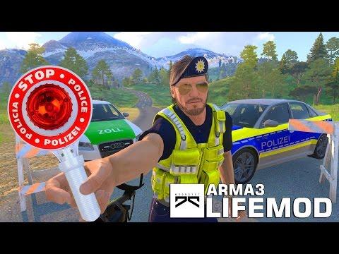 » HALT POLIZEI!!! « Straßensperre, Moondye7 im Polizeidienst! Arma3 Life Mod
