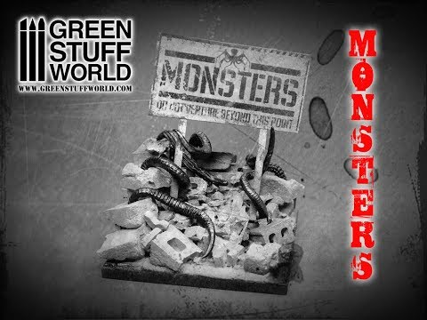 Creative: How to use a Concrete silicone mold to create the MONSTERS diorama