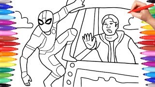 spiderman-far-from-home-coloring-book-spiderman-night-monkey-saves-ned