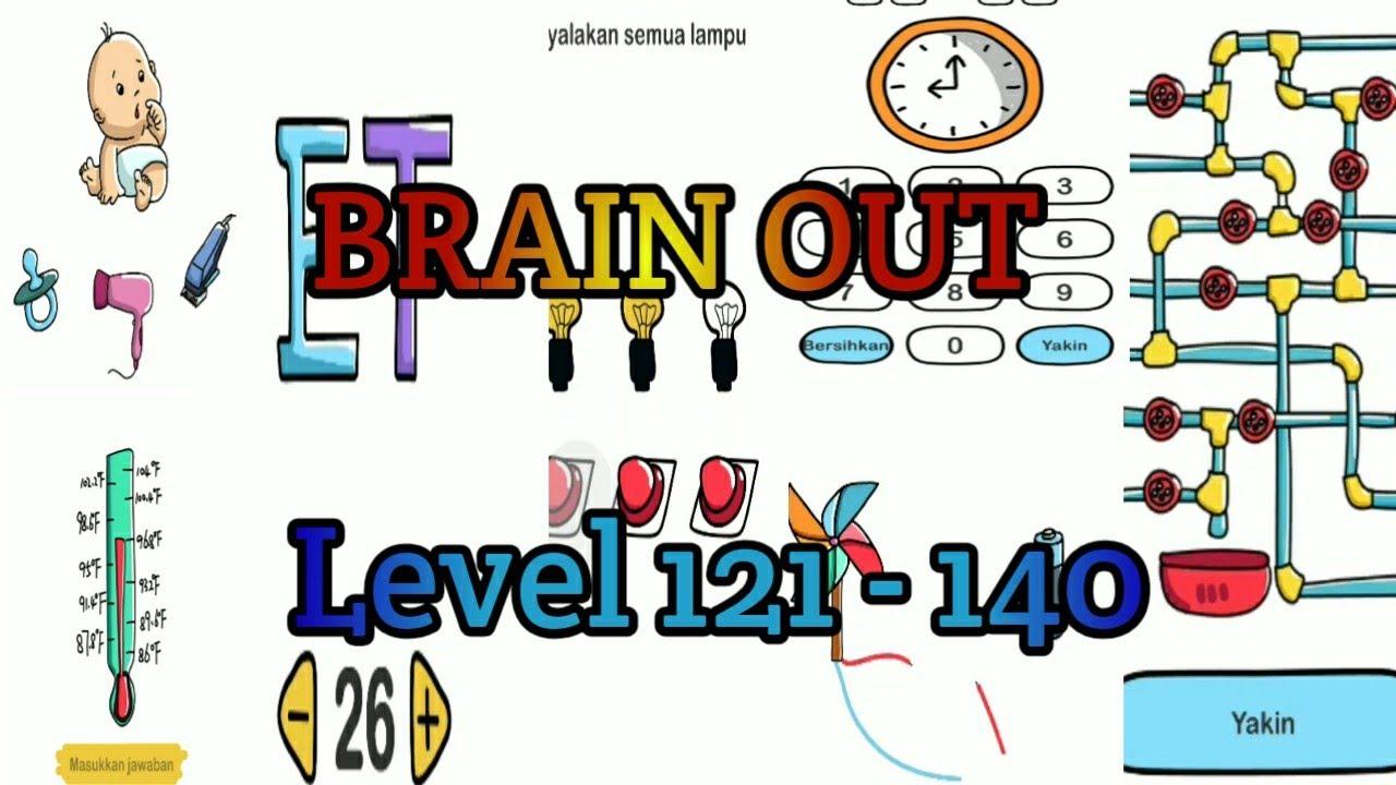Kunci Jawaban Brain Out Level 121 Sampai 140 Youtube