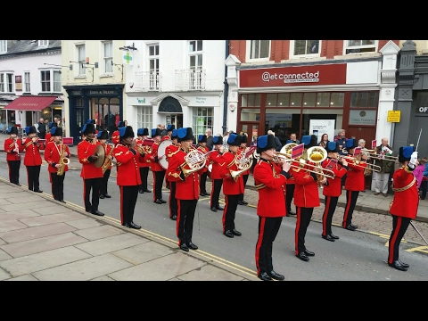 The Band of the Corps of Royal Engineers Brecon Freedom Parade April 2017