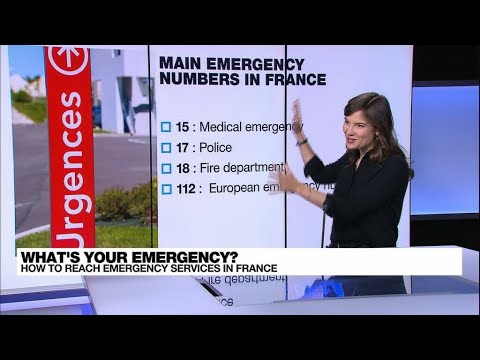Too many numbers? How to reach emergency services in France