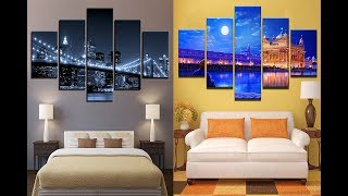 Home Decor Living Room Wall Artworks Frame 5 Pieces Panel (as Royal Decor)