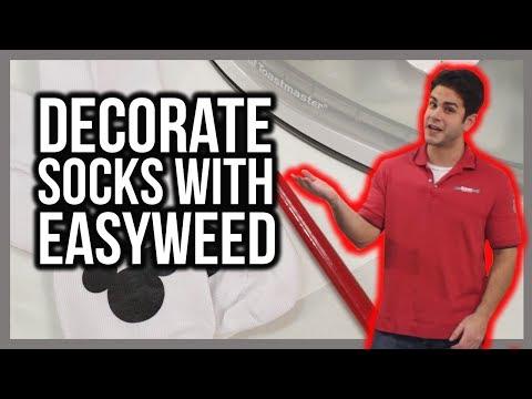 How to iron on heat transfer vinyl - socks