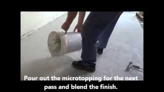 How to Resurface Floors Using a Concrete Microtopping