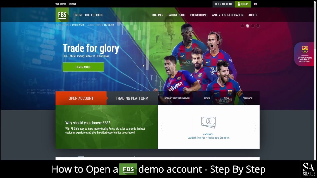 How To Open A Fbs Demo Account A Step By Step Guide For Beginners Youtube