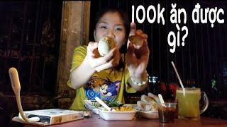 Thử Thách 100k Ăn Vặt Cổng Trường Đại Học Sài Gòn | Như Quỳnh Kids