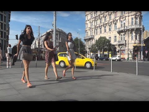 StillCamLife - 16 Minutes in Budapest Hungary beautiful people walking and cars driving by