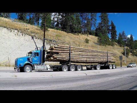 B.C. LOGGING TRUCKS #25 -- Logging, Transport & Vocational Big Rigs Workin' Hard