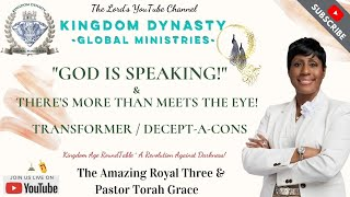 Pastor Torah Grace - GOD IŠ SPEAKING! & There Is More Than Meets The Eye! Transformer/ Decept-A-Cons