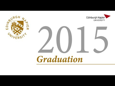 Edinburgh Napier University Graduation Thursday 29 October 2015 am