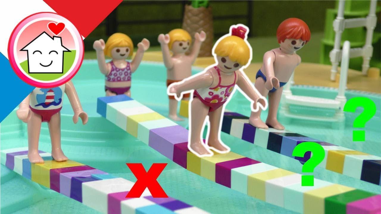 Playmobil en francais Après-midi de jeu dans le parc aquatique - Famille Hauser