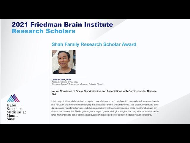 FBI Research Scholars: Uraina Clark, PhD