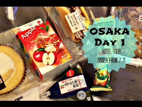 Osaka JAPAN Day 1  |  Hotel Room Tour & Dinner from 7-11
